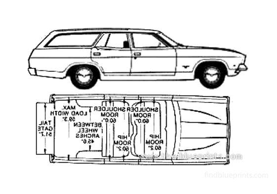 Ford Falcon XB Estate (Australia) Wagon 1975