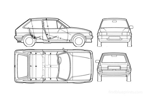 Ford Fiesta Hatchback 1982