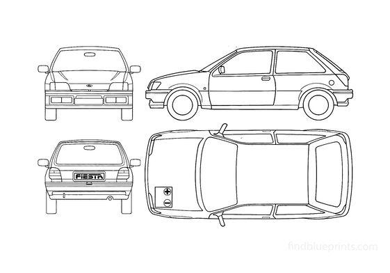 Ford Fiesta Hatchback 1990