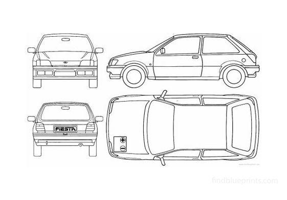 Ford Fiesta 3 door Hatchback 1990