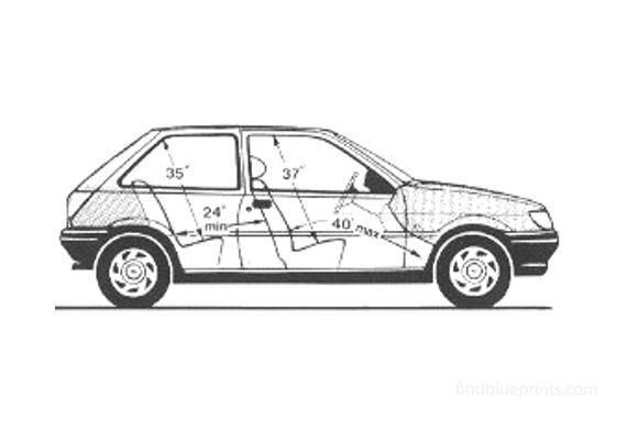 Ford Fiesta 3-door Popular Hatchback 1989