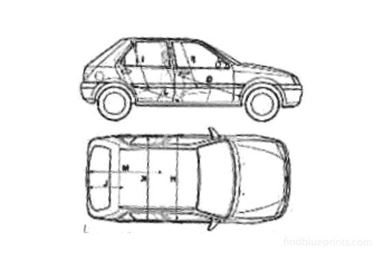 Ford Fiesta Mk III 5-door Hatchback 1993