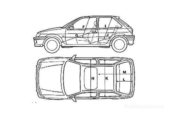 Ford Fiesta S3 XR2 3-door Hatchback 1989