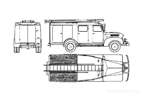 Ford FK-2000 Fire Truck 1952