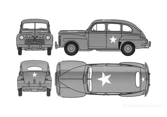 Ford Fordor Staff Car Wagon 1942