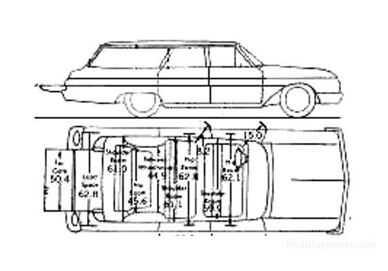 Ford Galaxie Wagon 1962