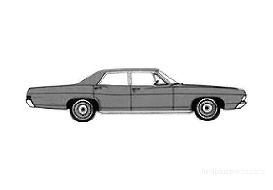 Ford Galaxie-500 Sedan 1968