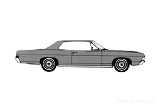 Ford Galaxie-500 2-door Hard Top Coupe 1968