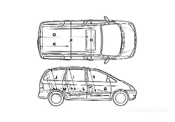 Ford Galaxy Minivan 1999