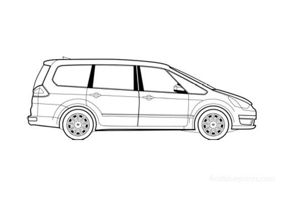 Ford Galaxy Minivan 2008