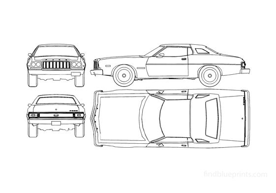 Ford Gran Torino Coupe 1976