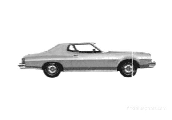 Ford Gran Torino 2-door Hardtop Coupe 1975