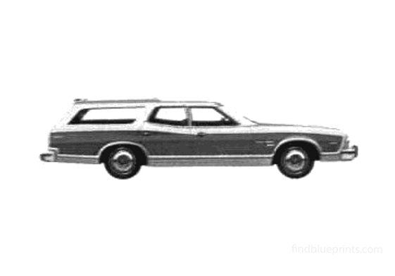 Ford Gran Torino Squire Wagon 1975