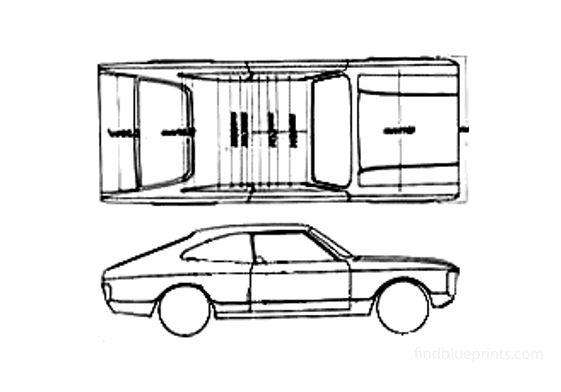 Ford Granada Coupe 1972