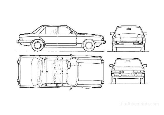 Ford Granada Ghia Sedan 1982