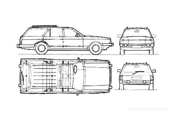 Ford Granda Ghia Estate Wagon 1982