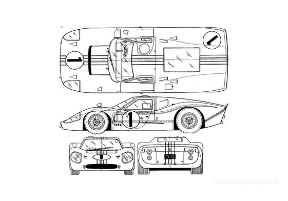 Ford GT Mk IV Coupe 1967