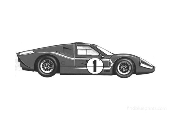 Ford GT Mk IV Le Mans Coupe 1967