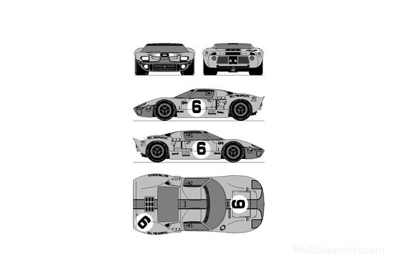 Ford GT40 Le Man Coupe 1969