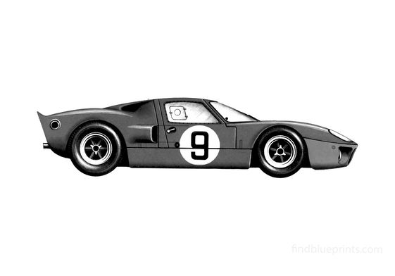 Ford GT40 Le Mans Coupe 1968