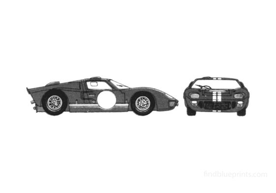 Ford GT40 Mk II Coupe 1966