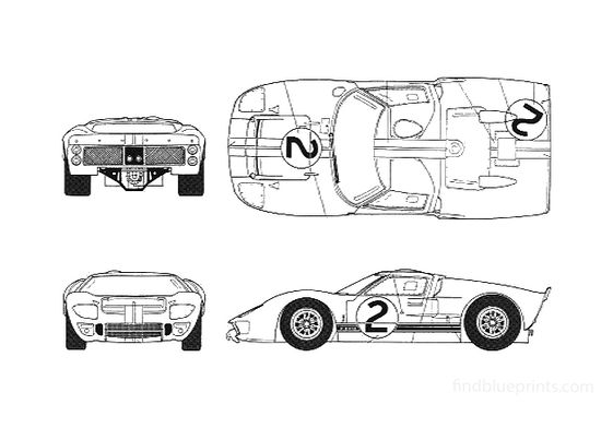 Ford GT40 Mk II Le Mans Coupe 1966