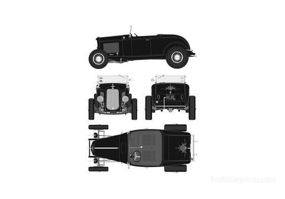 Ford Highboy Hot Rod Cabriolet 1932