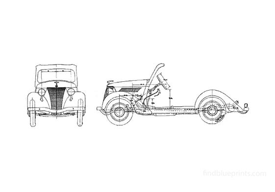 Ford Junior Chassis Truck 1937