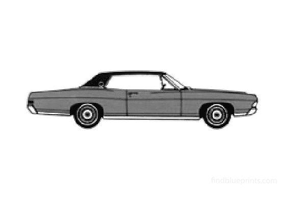 Ford LTD 2-door Hard Top Coupe 1968