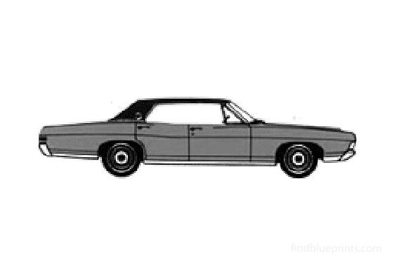 Ford LTD 4-door Hard Top Sedan 1968
