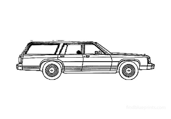 Ford LTD Country Squire Wagon 1981