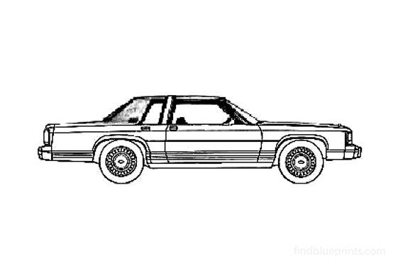 Ford LTD Crown Victoria Coupe 1981