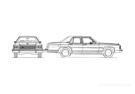Ford LTD Crown Victoria Sedan 1986