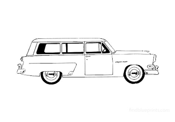 Ford Mainline Ranch Wagon 1954