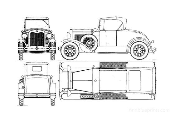 Ford Model A Runabout Cabriolet 1927