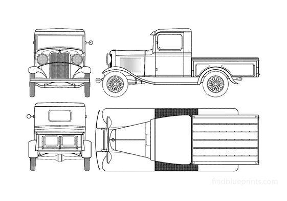 Ford Model B Pick-up 1932