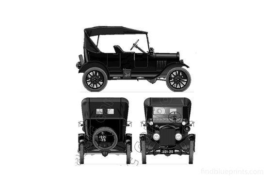 Ford Model T Tourer Sedan 1924
