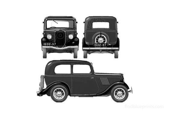 Ford Model Y 8hp Tudor Sedan 1935