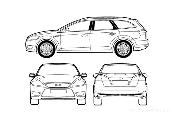 Ford Mondeo III Estate Wagon 2007