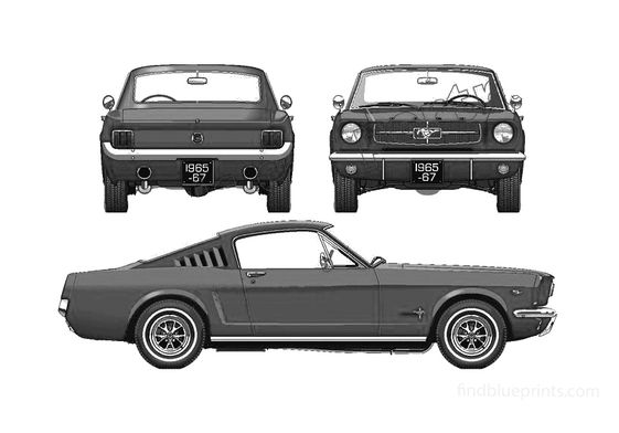 Ford Mustang 289 Fastback Coupe 1965