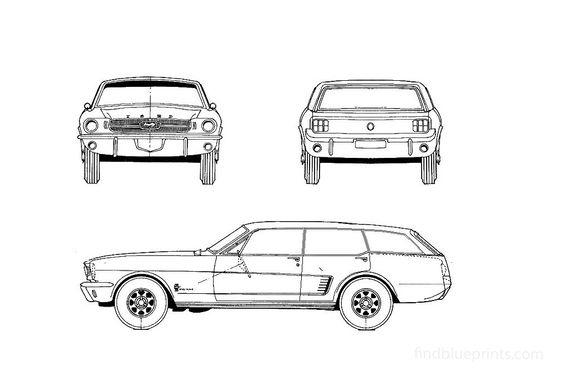 Ford Mustang 4-Door Wagon Wagon 1965