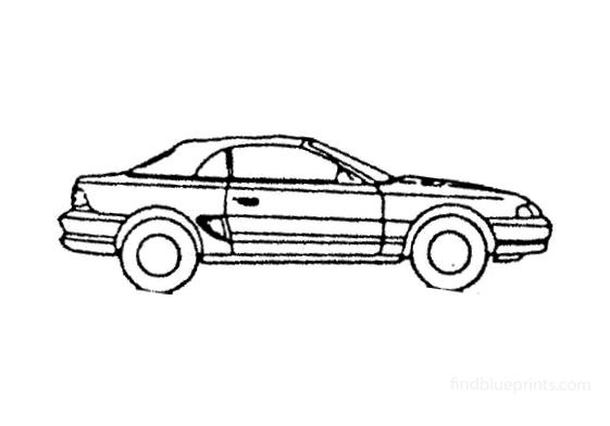 Ford Mustang Convertible Cabriolet 1997