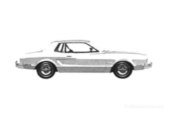 Ford Mustang II 2-door Hardtop Coupe 1975