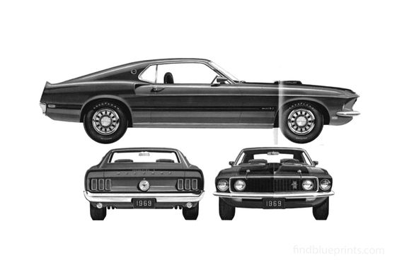 Ford Mustang Mach I Coupe 1969