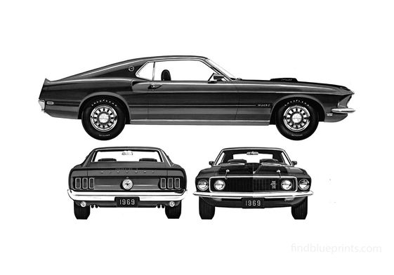 Ford Mustang Mach I 428 Coupe 1969
