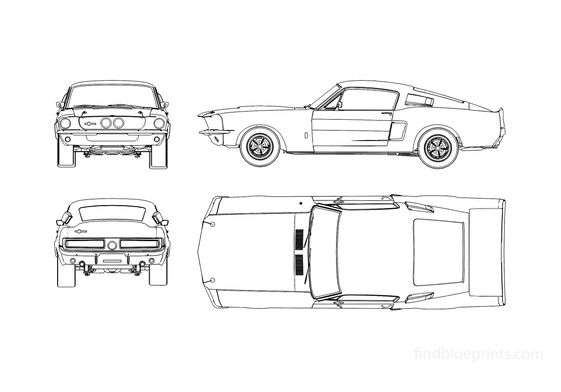 Ford Mustang Shelby GT500 Coupe 1967