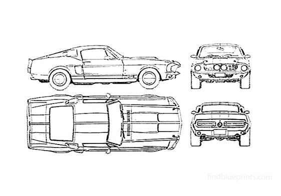 Ford Mustang Shelby GT500 Coupe 1968