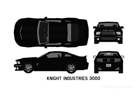 Ford Mustang V KITT Knight Industries Three Thousand Cinema Coupe 2008
