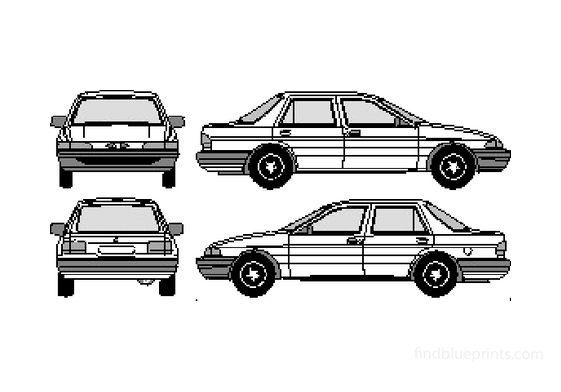 Ford Orion Sedan 1992