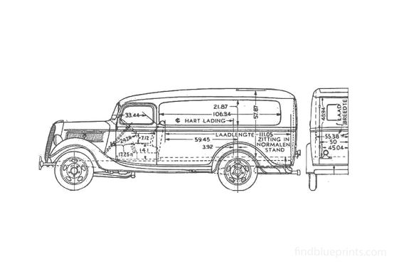 Ford Panel Van 1937